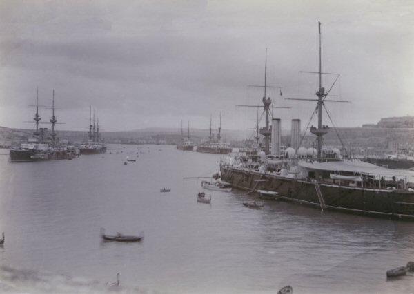 Navy warships in Malta at the turn of the 20th century
