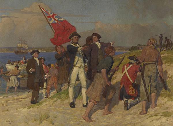Captain James Cook lands at Botany Bay
