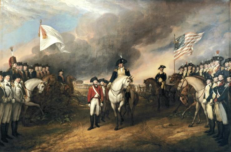 Surrender of Lord Cornwallis at Yorkstown