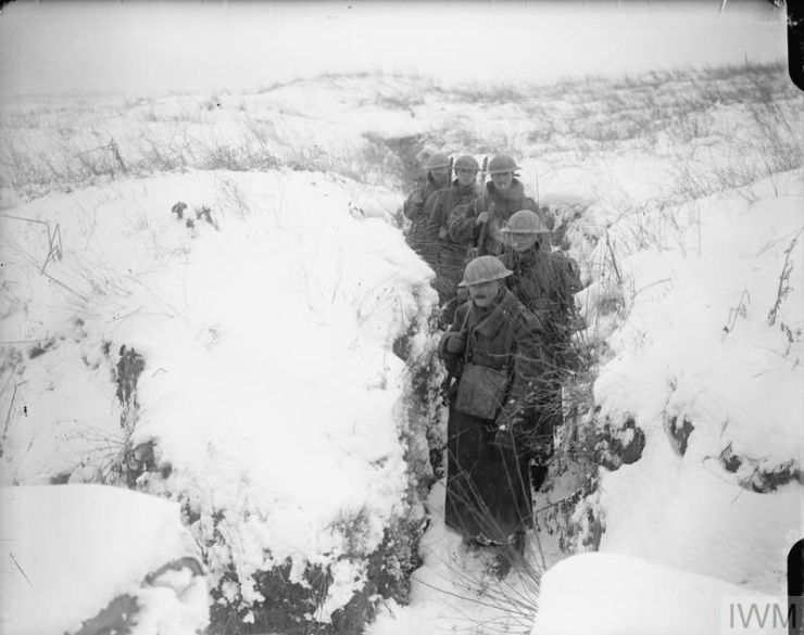 snow in the trenches